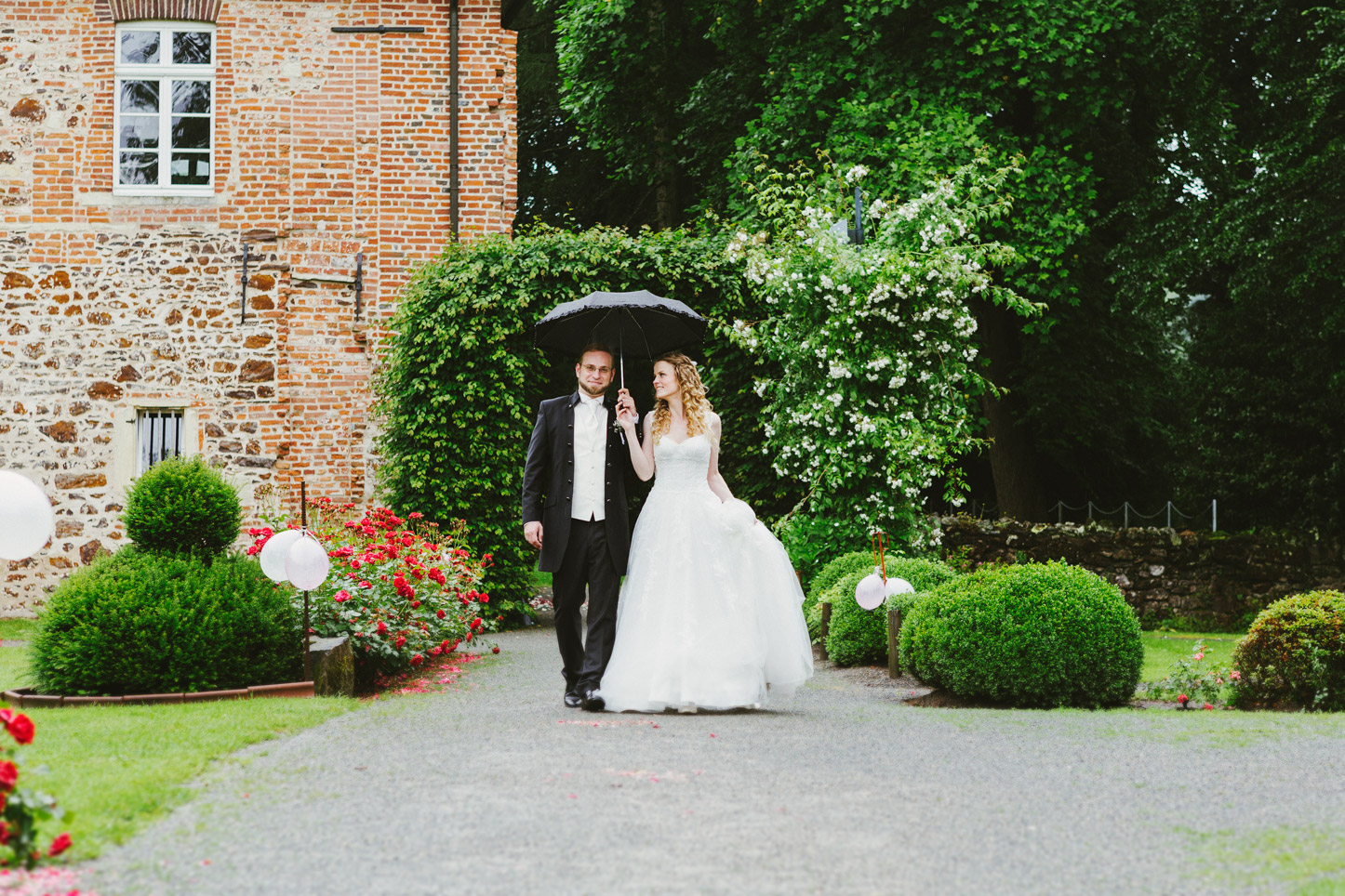 Brautpaarshooting im Regen