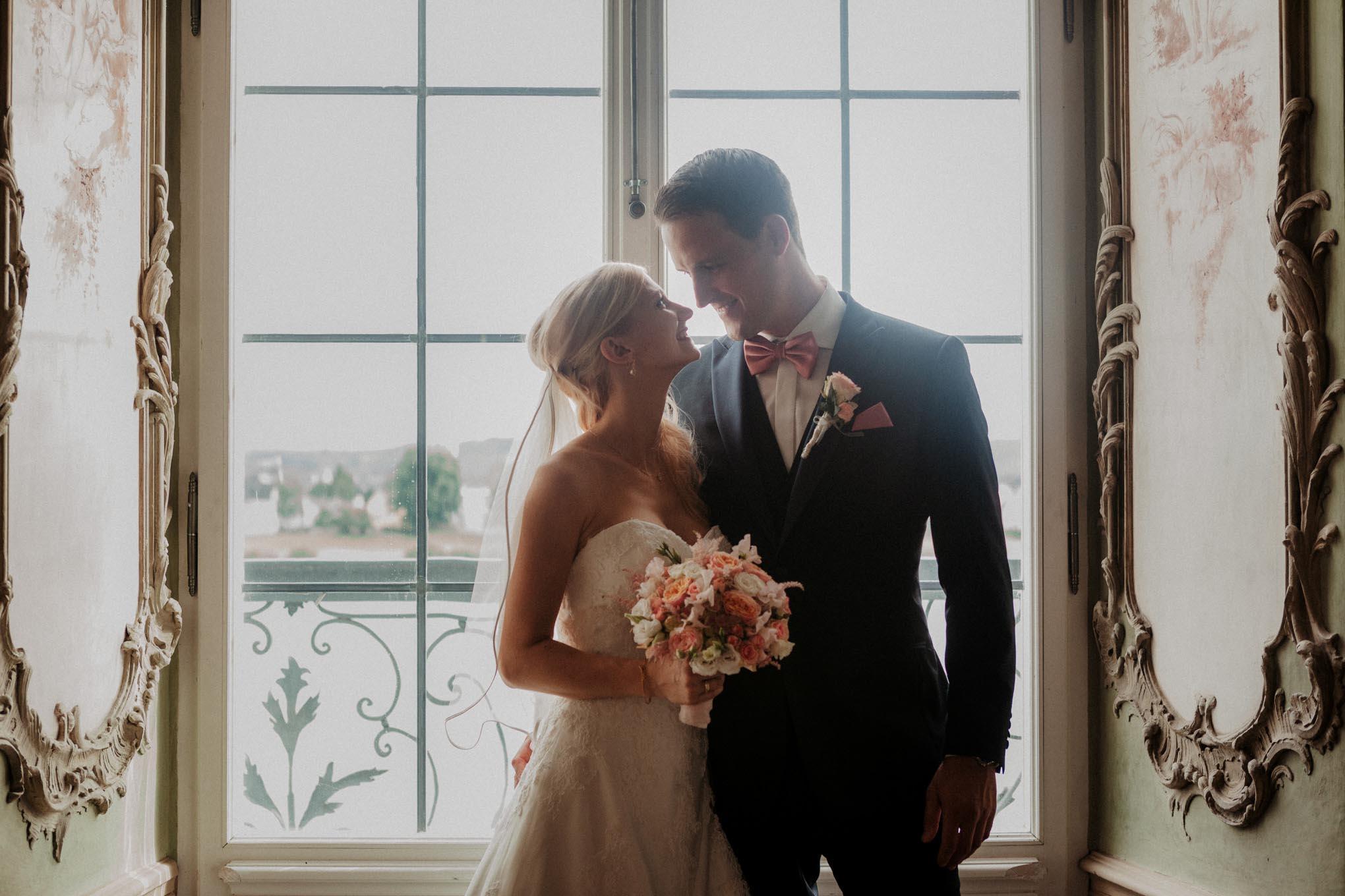 Hochzeitsfoto im Schloss Engers