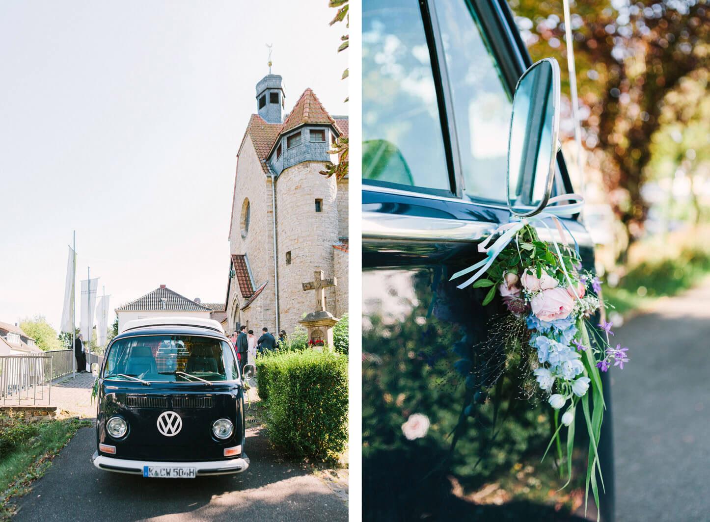 Vintage Hochzeitsauto