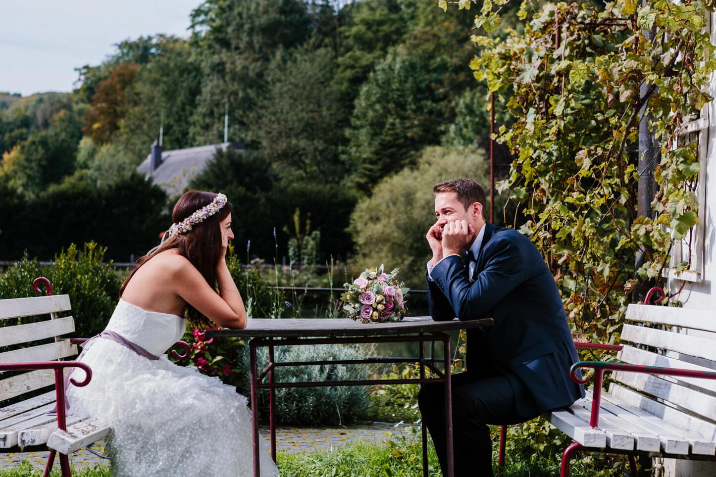 Brautpaar in Herrenstrunden