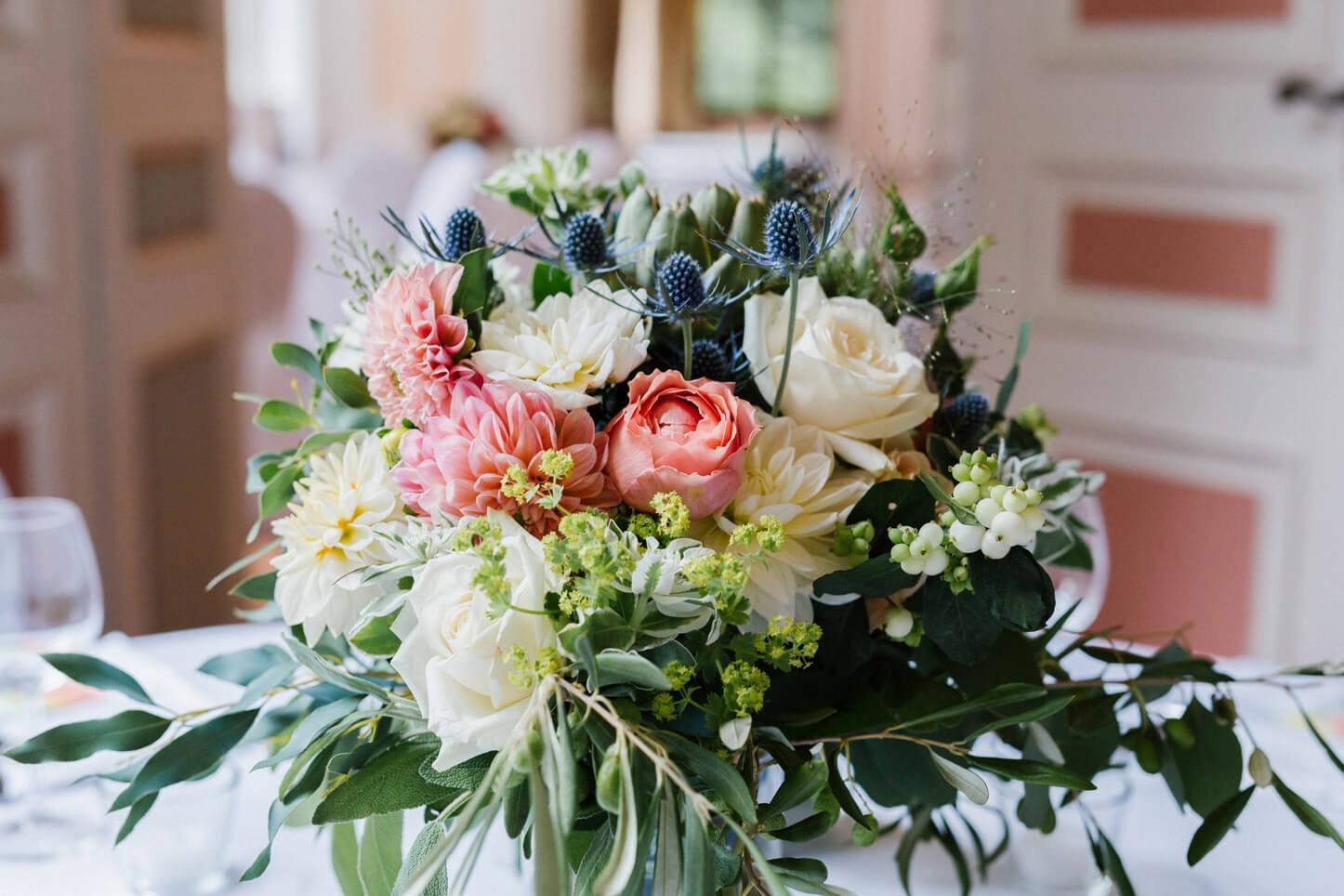 Hochzeitsblumen Tischdekoration