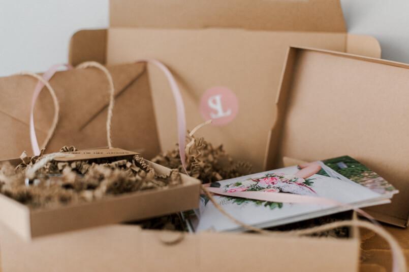 Geschenkverpackung fuer Brautpaare