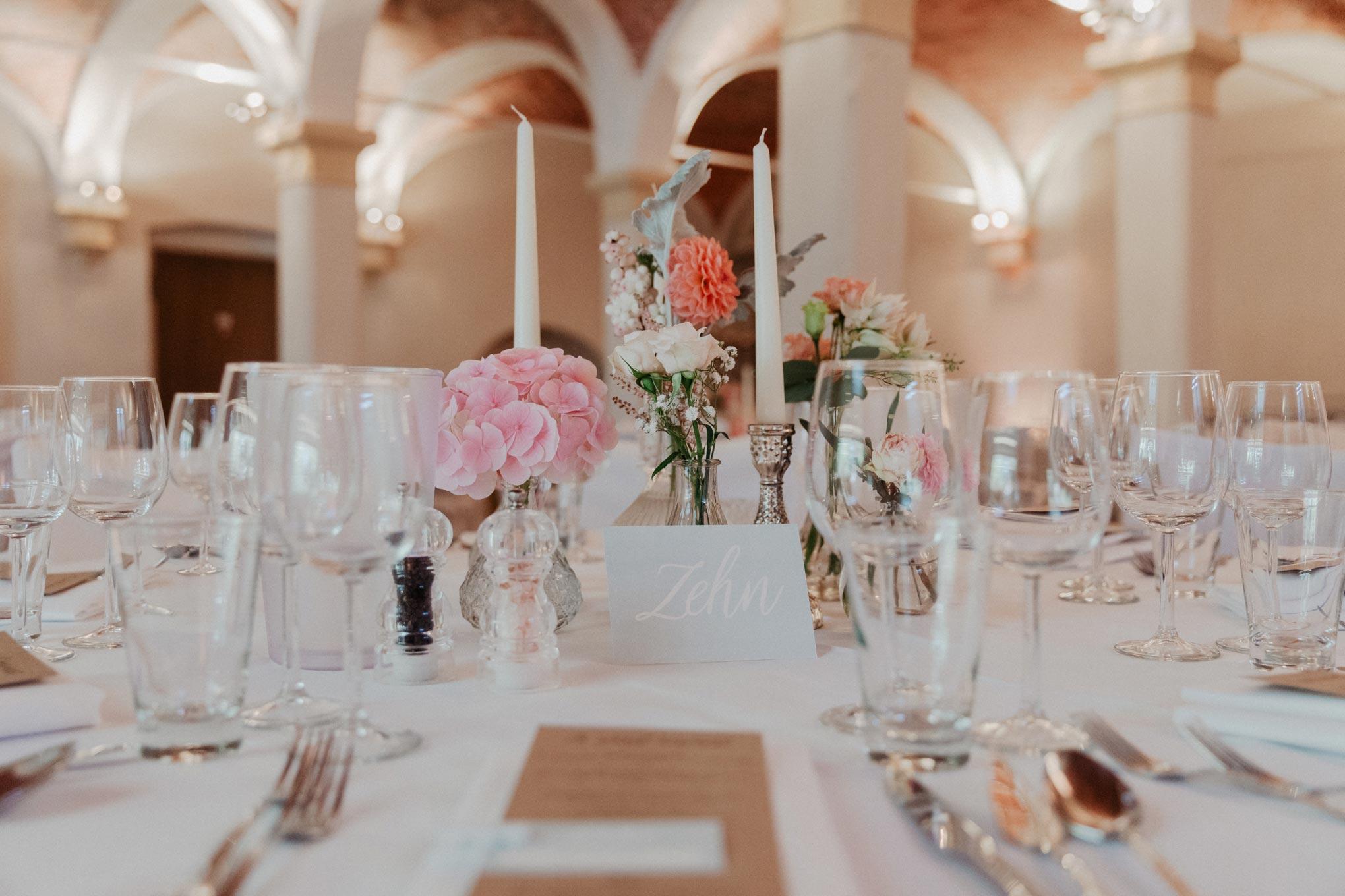 Tischdekoration, Hochzeitsdekoration,