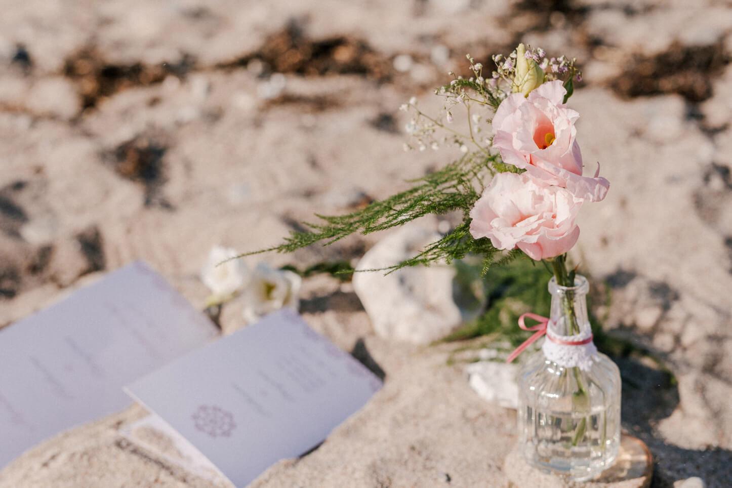 Hochzeitspapeterie am Strand
