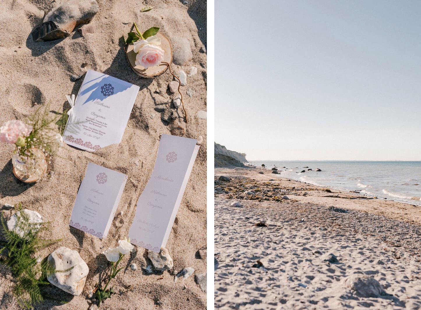 Hochzeitsinspiration am strand von Schwedemeck