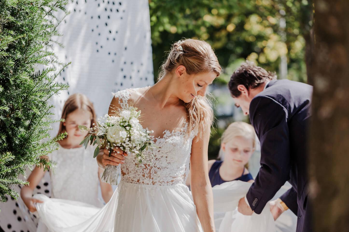 Brauteinzug mit Brautvater