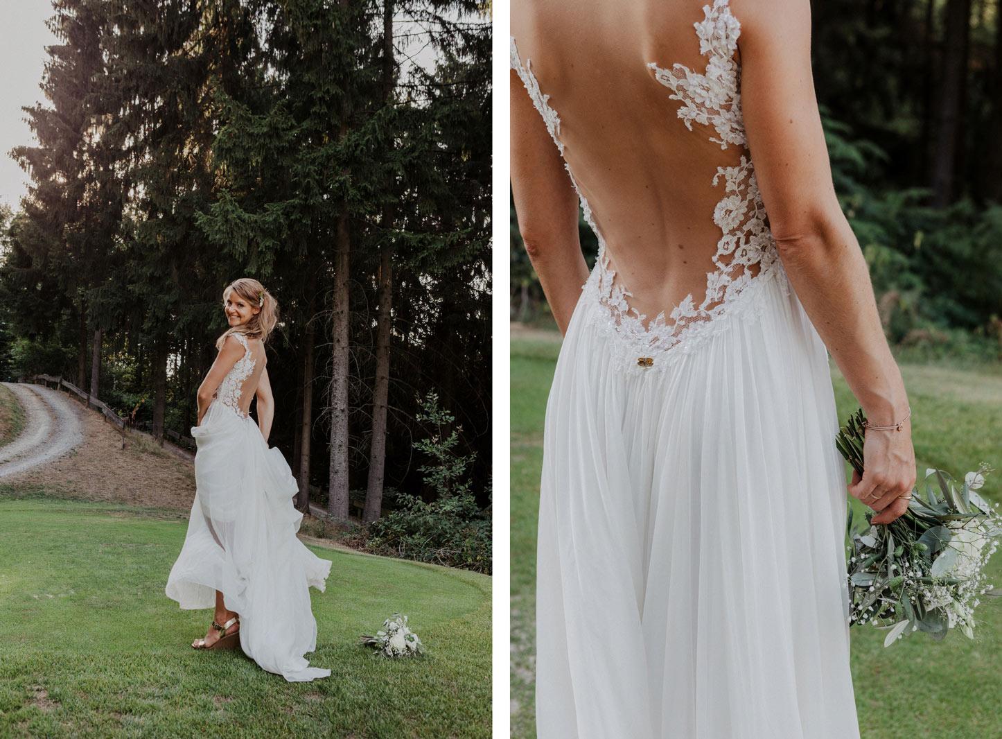 Boho Braut beim Paarshooting