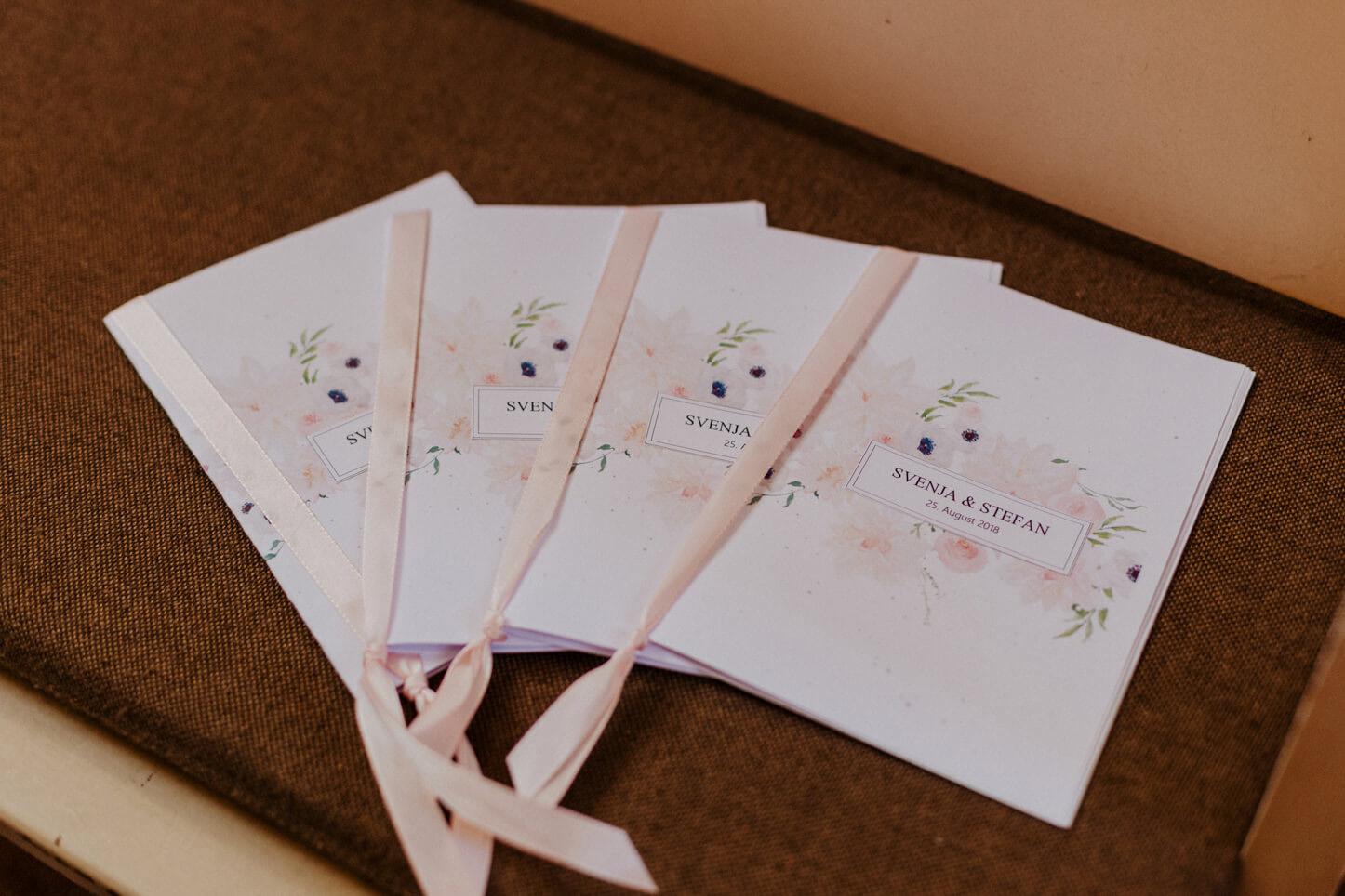 Gesangsheft zur Hochzeit