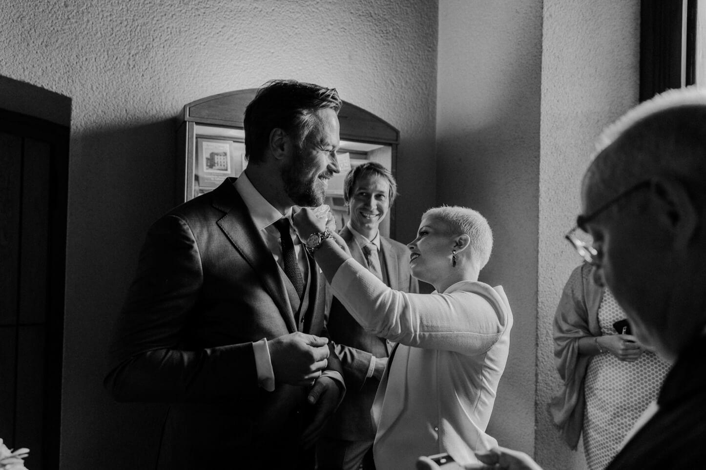 Bräutigam vor der Hochzeit