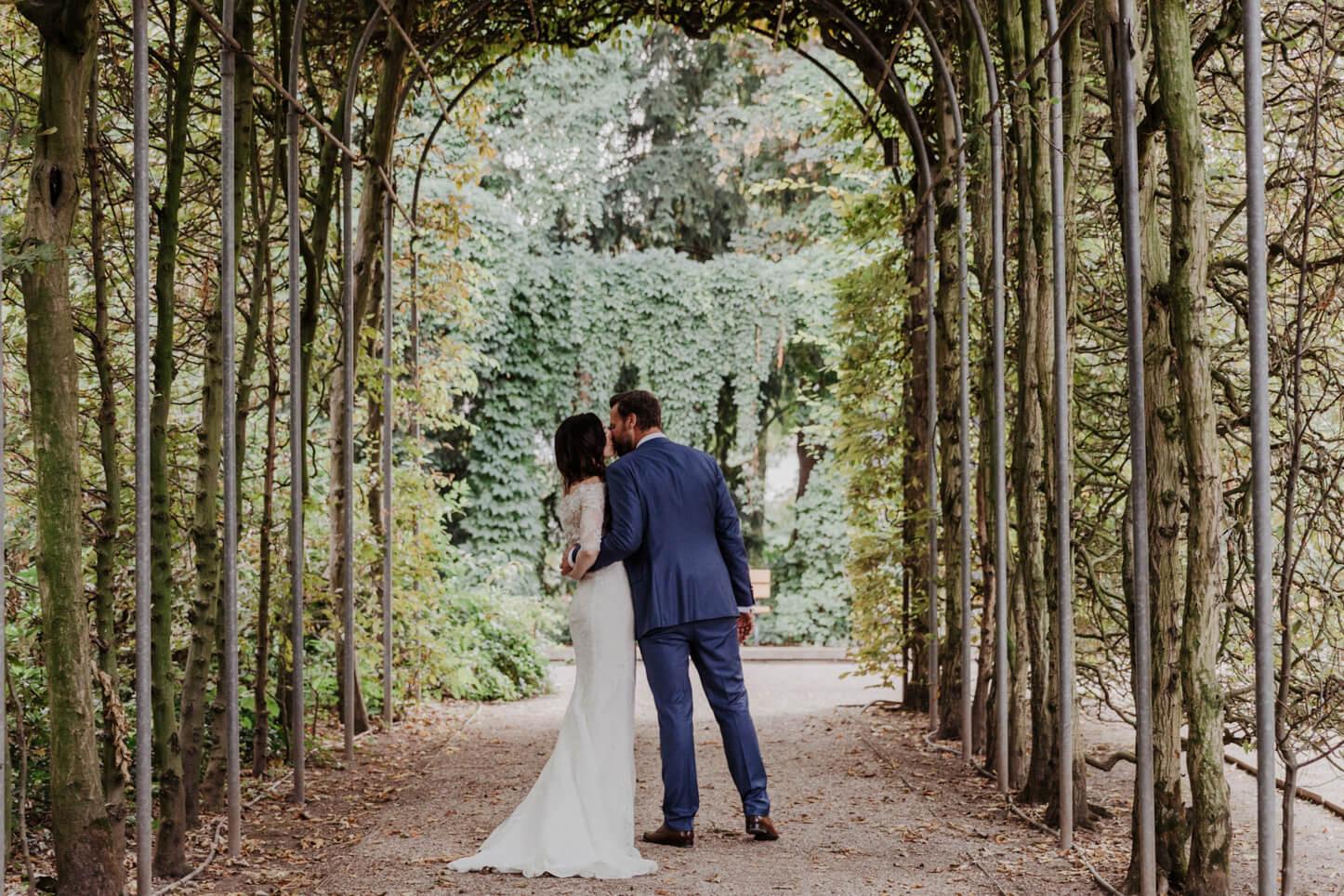 Brautpaar in der Flora
