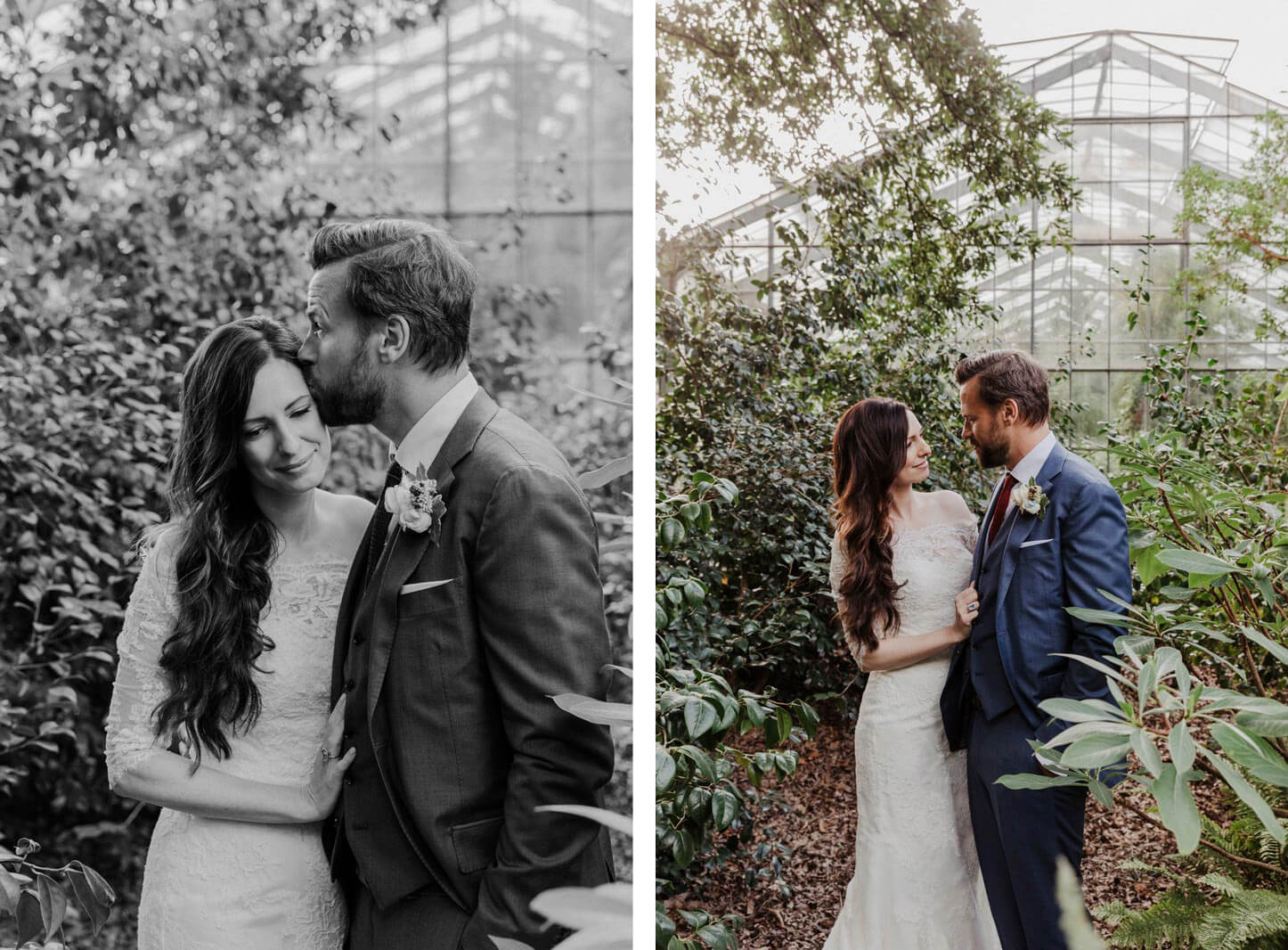 Brautpaarshooting im Gewächshaus