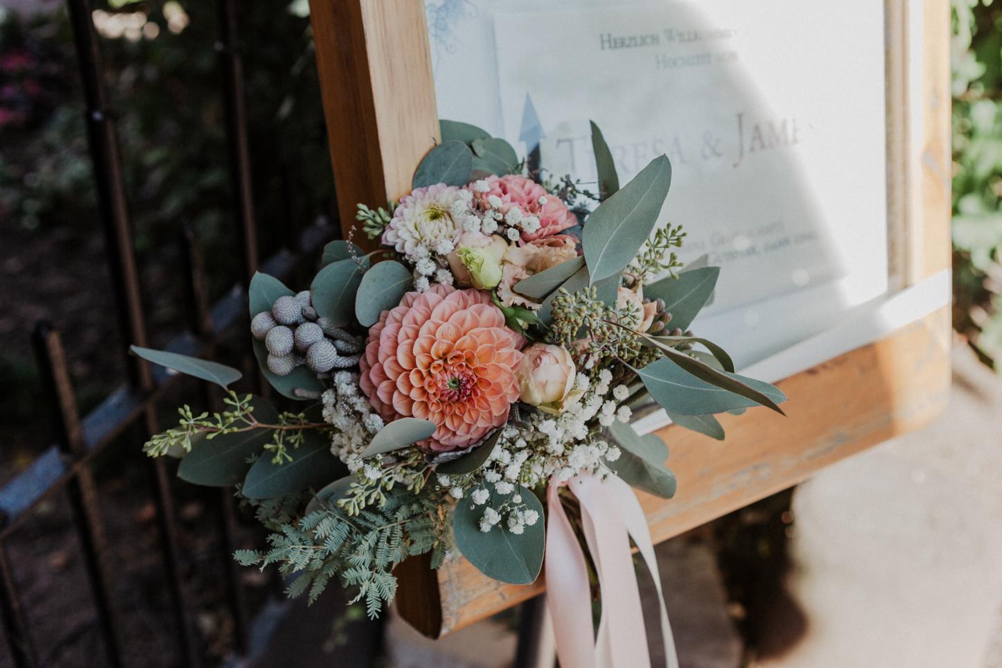 Welcome Schild zur Hochzeit
