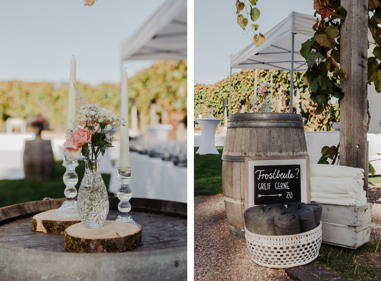 Mediterrane Hochzeit auf dem Weingut