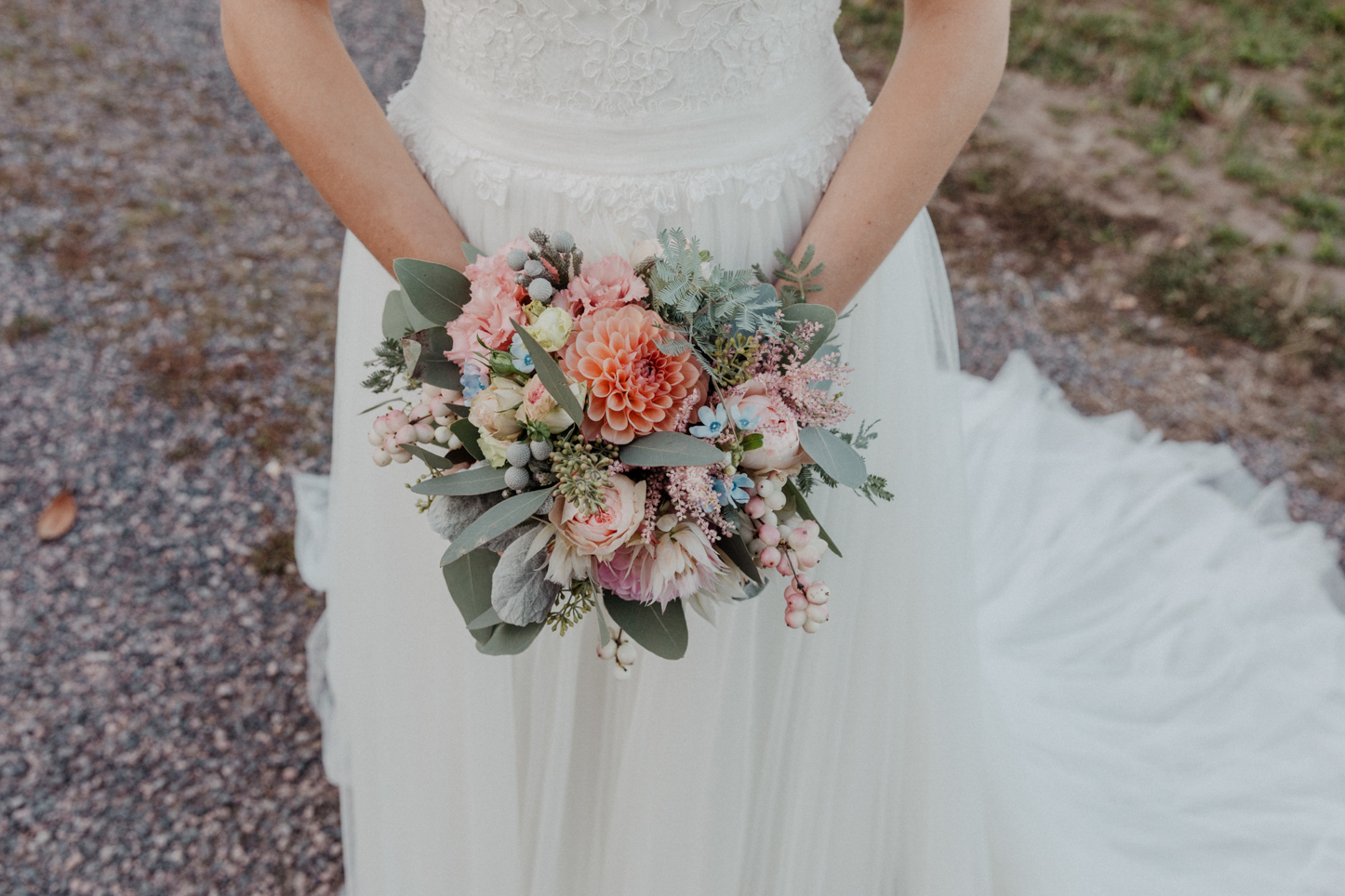 Brautstrauß in Pastellfarben