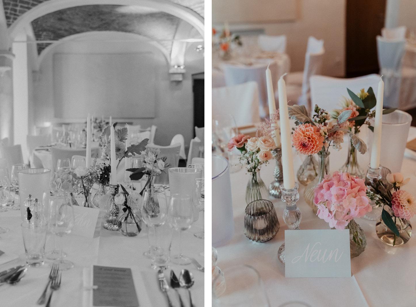 Tischdekoration, Hochzeitstisch