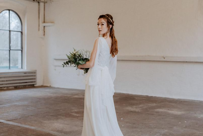 Brautmoden Fotoshooting in der Orangerie Köln