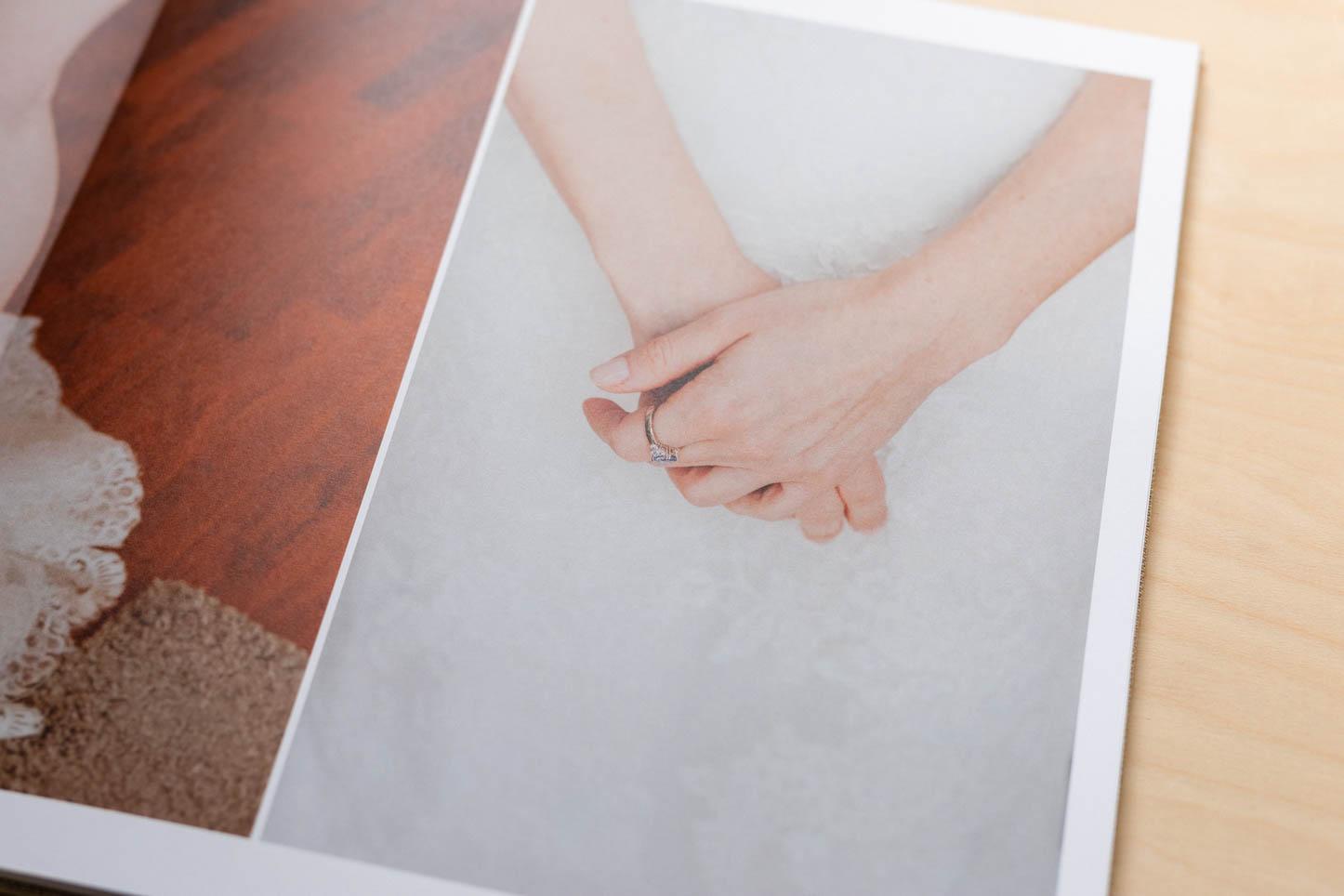 Innenseiten eines Fotobuch zur Hochzeit