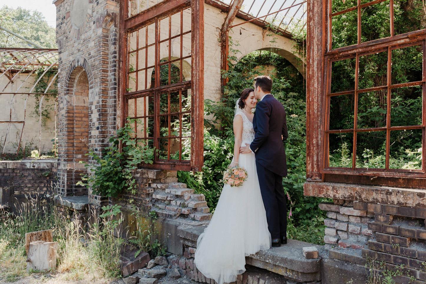 Hochzeitsfotos mit Brautpaar in der Villa Au