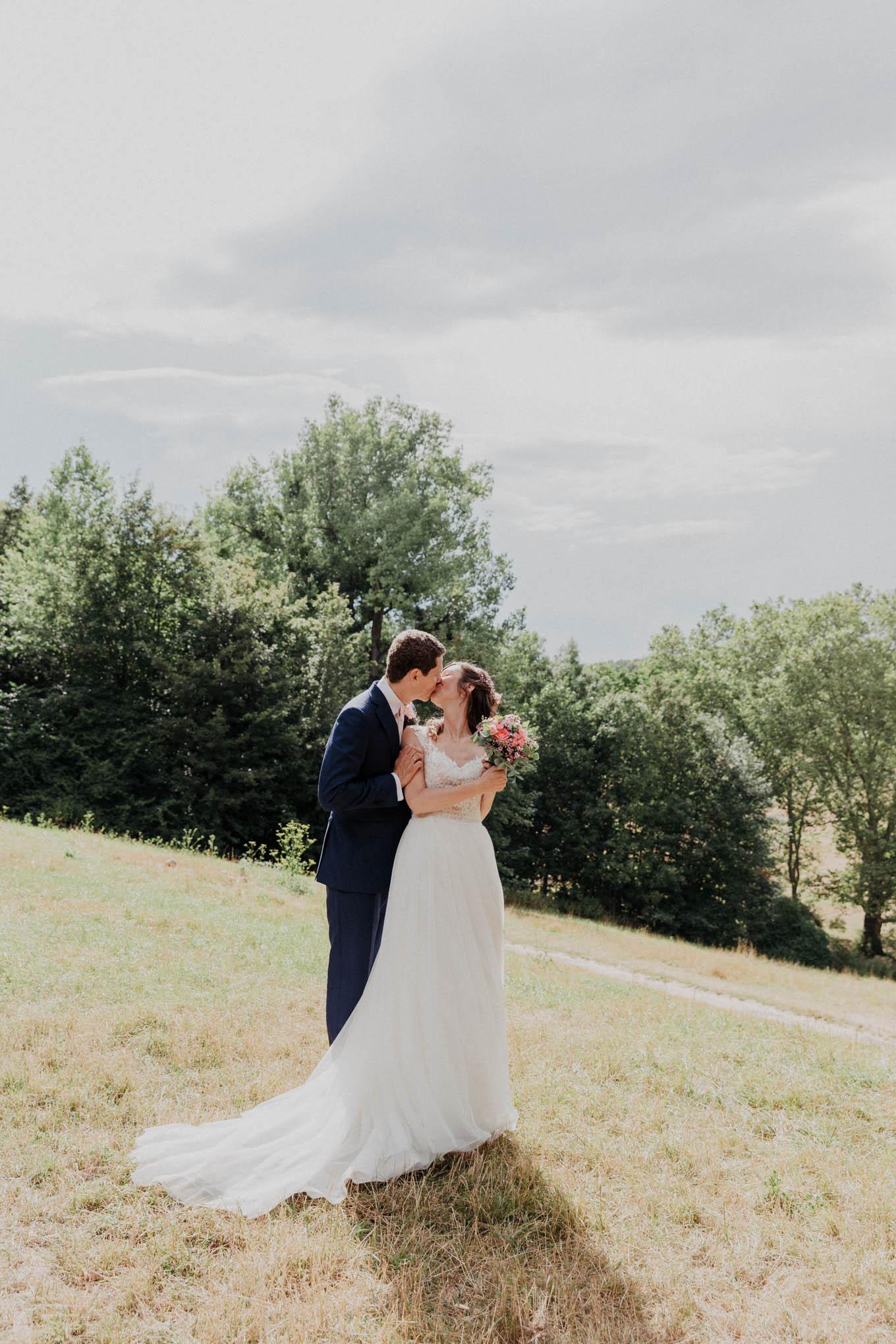 Hochzeitsfotos mit Brautpaar im Beethovepark Köln
