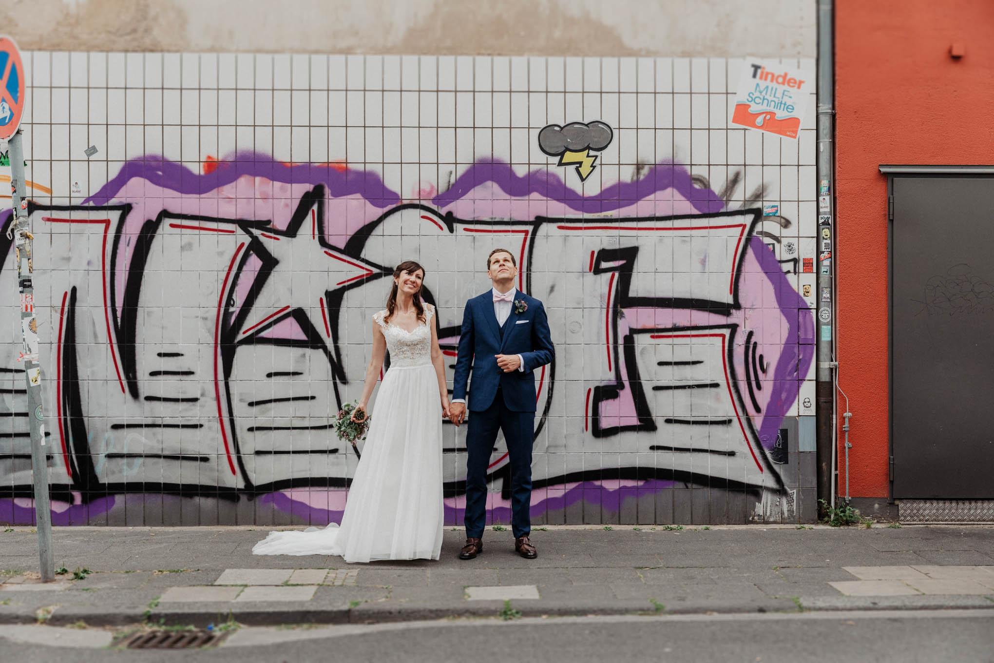 Urbane Hochzeitsfotos in Köln Ehrenfeld