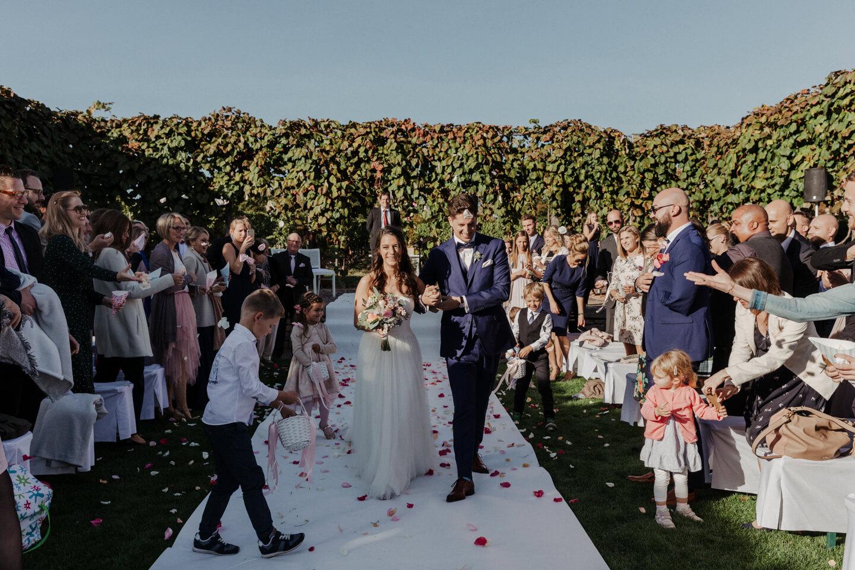Hochzeitsfoto auf einem Weingut