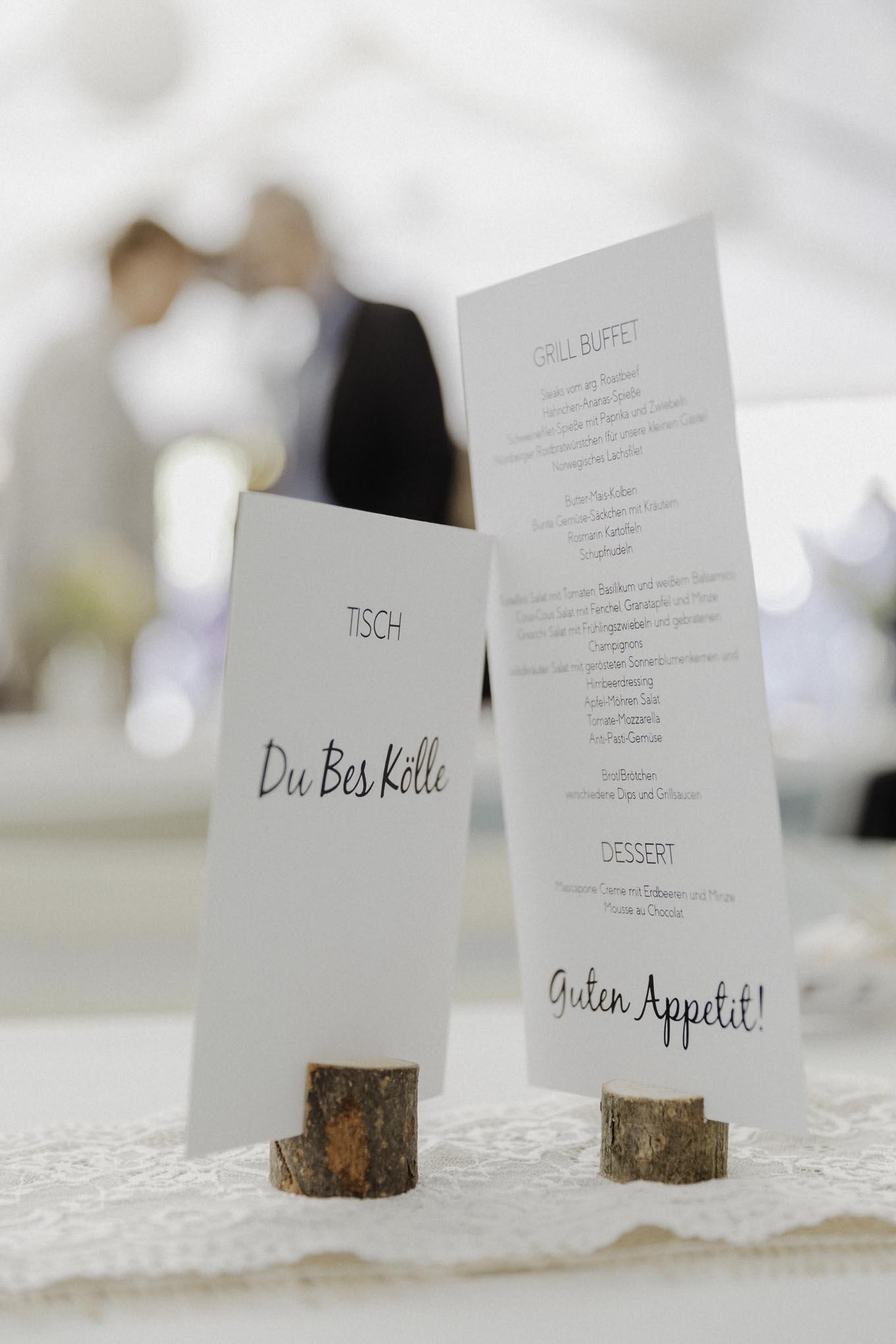 Kölsche Tischkarten zur Hochzeit