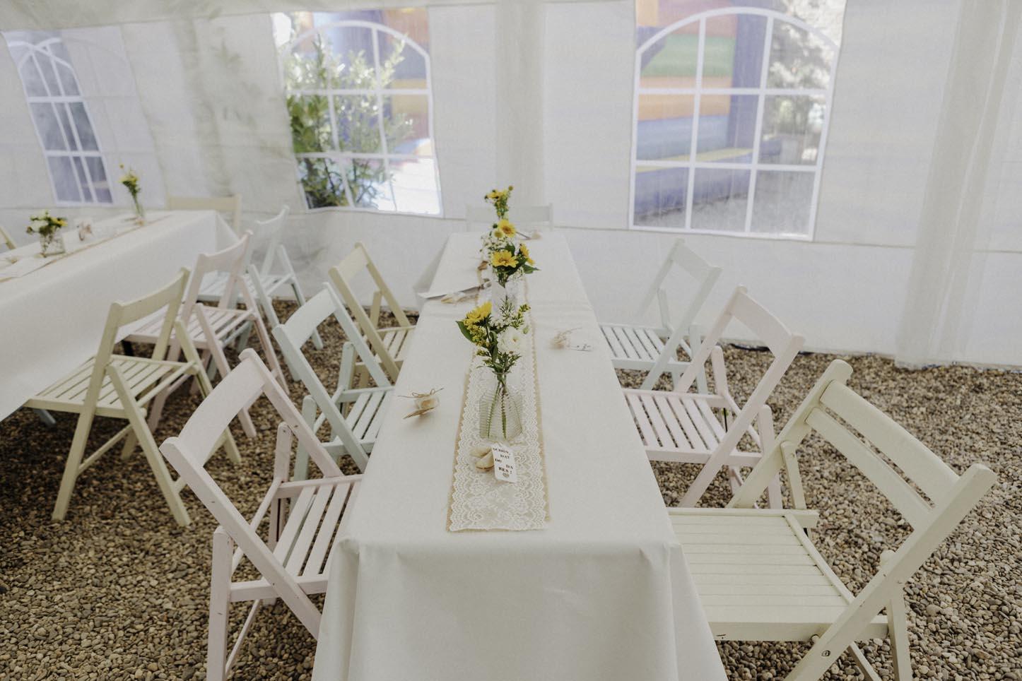 Hochzeitstisch auf dem Nüssenberger Hof