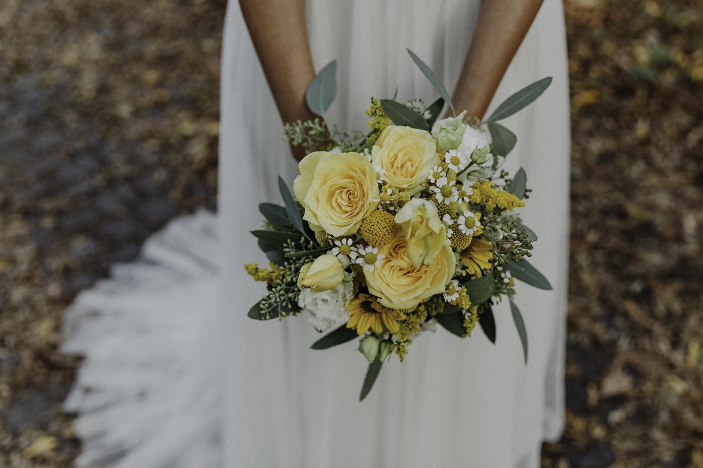 gelber Brautstrauß