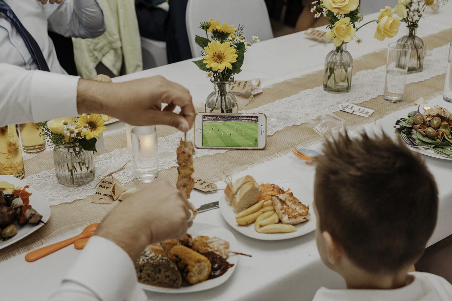Fußball und Hochzeit