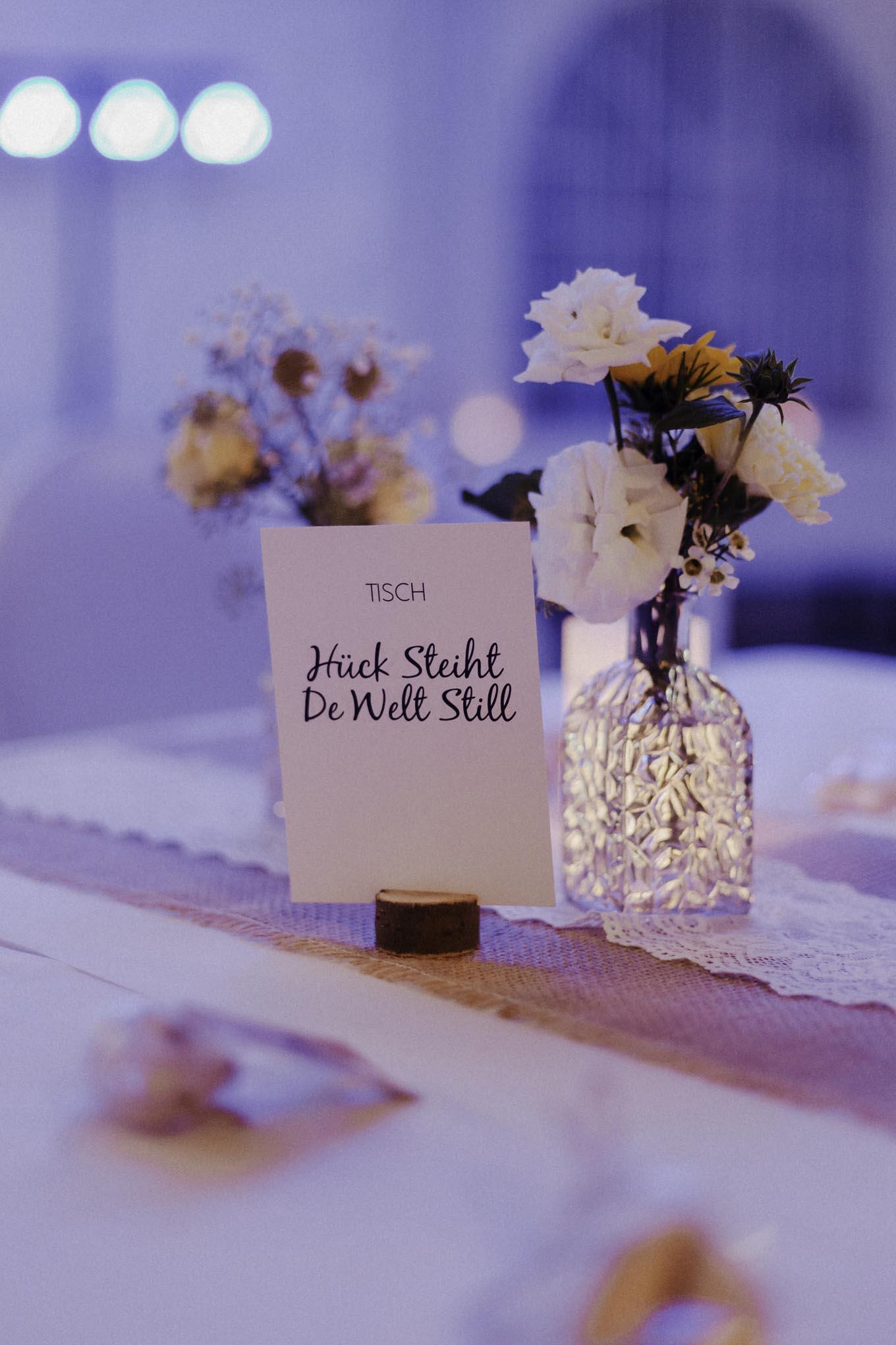 Kölsche Hochzeitsdekoration