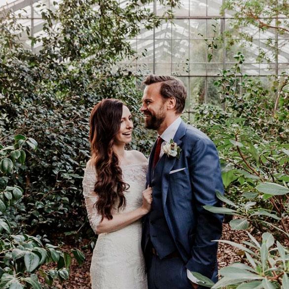 Brautpaarshooting im Gewaechshaus