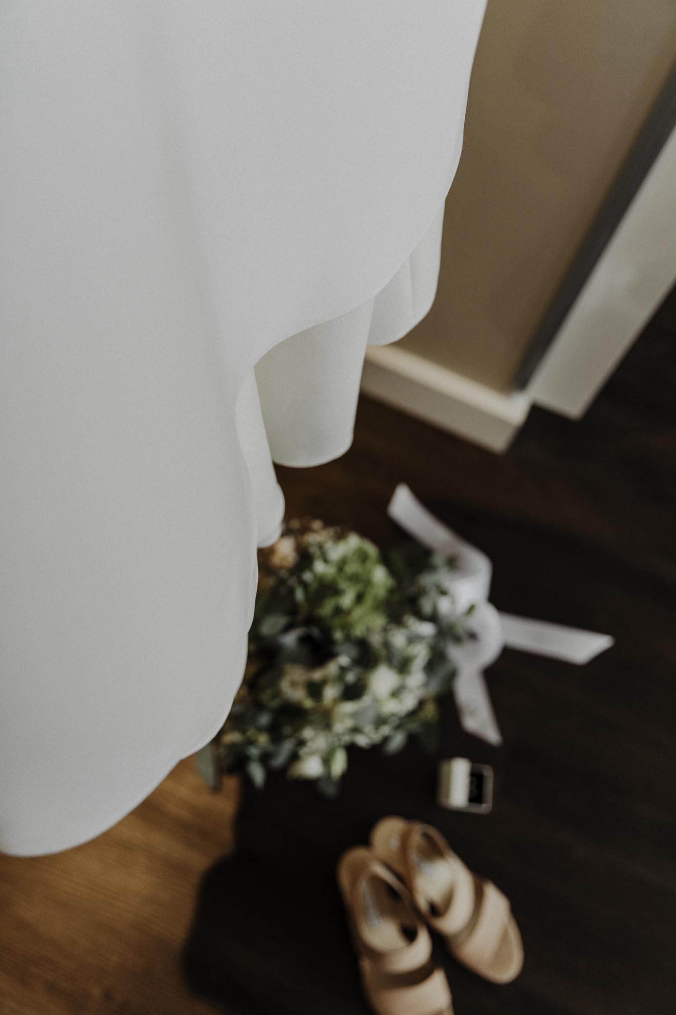 Hochzeitsfoto mit Brautstrauß