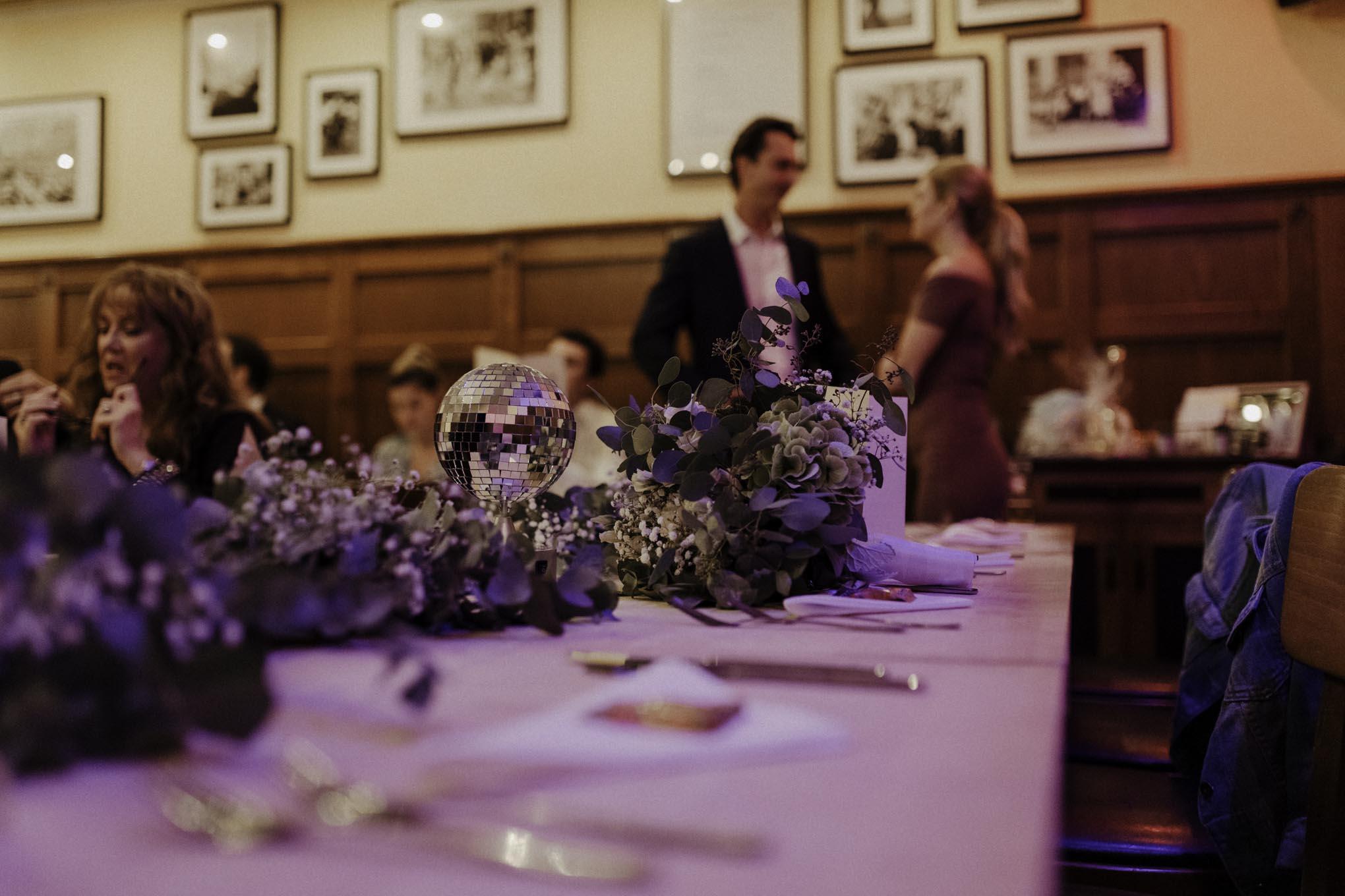 Hochzeitsdekoration im Alten Brauhaus Köln