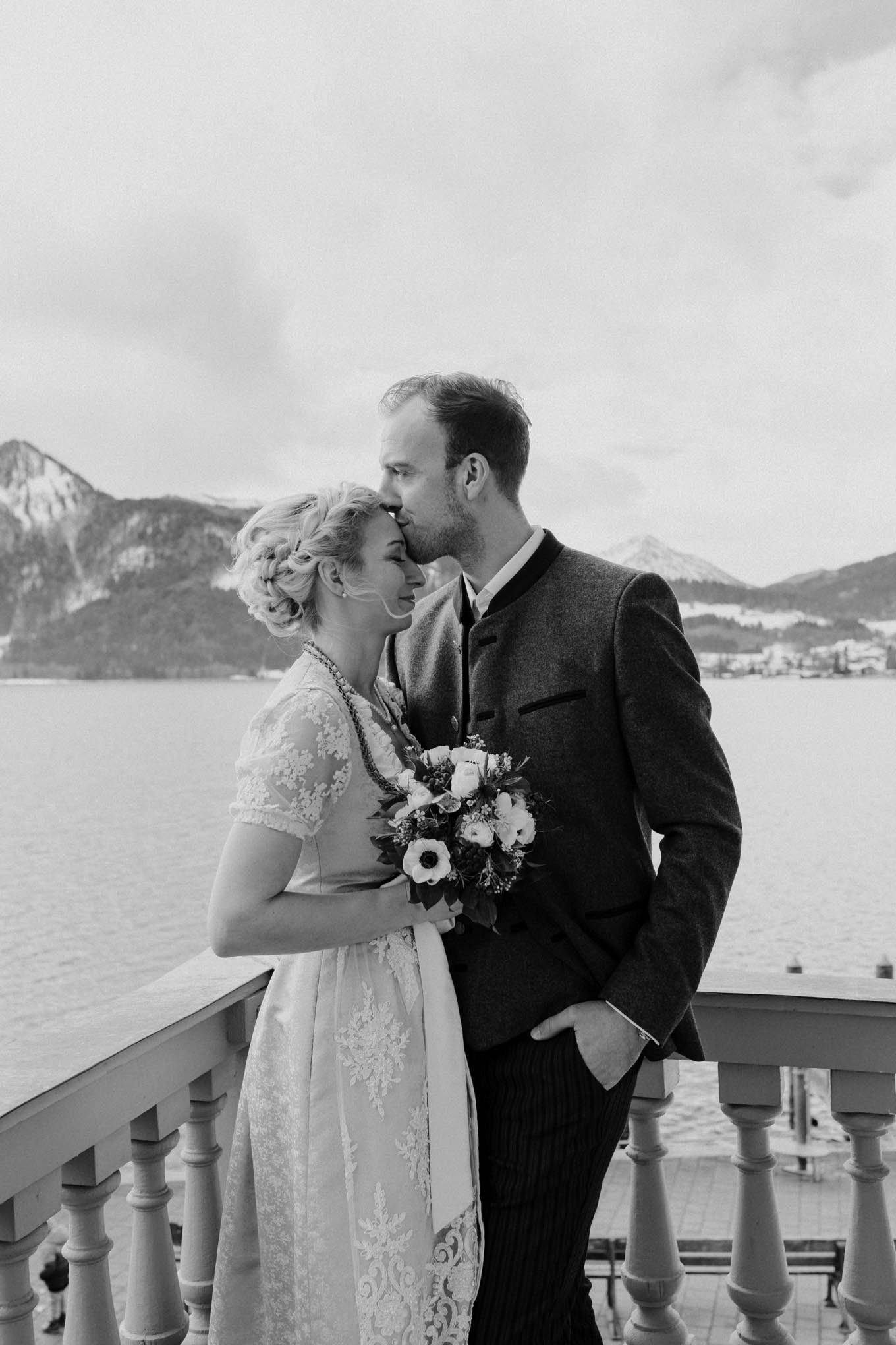 Brautpaar im Standesamt Tegernsee