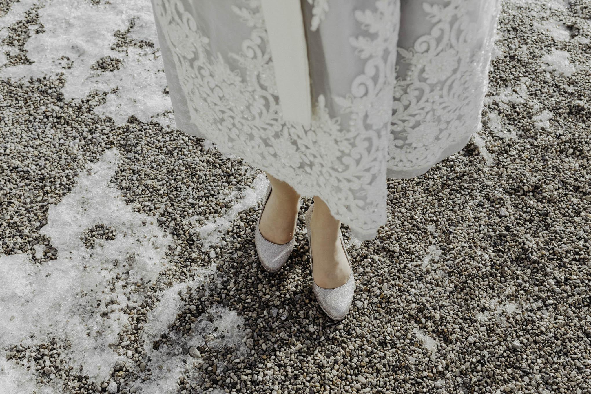 Brautschuhe im Winter