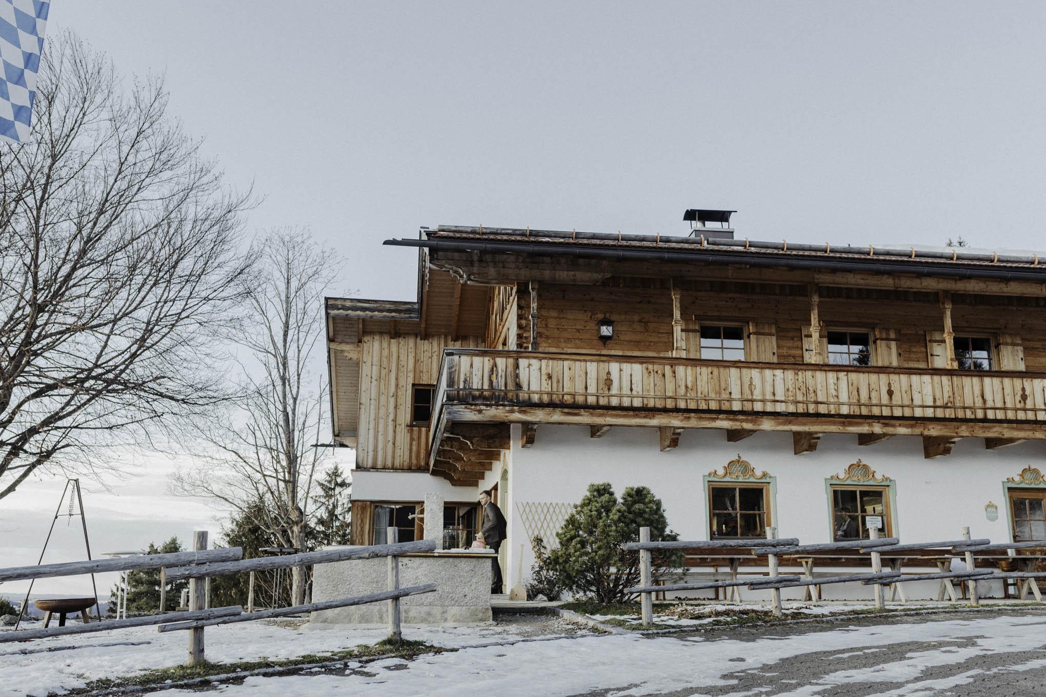 Hochzeit feiern am Tegernsee im Winter