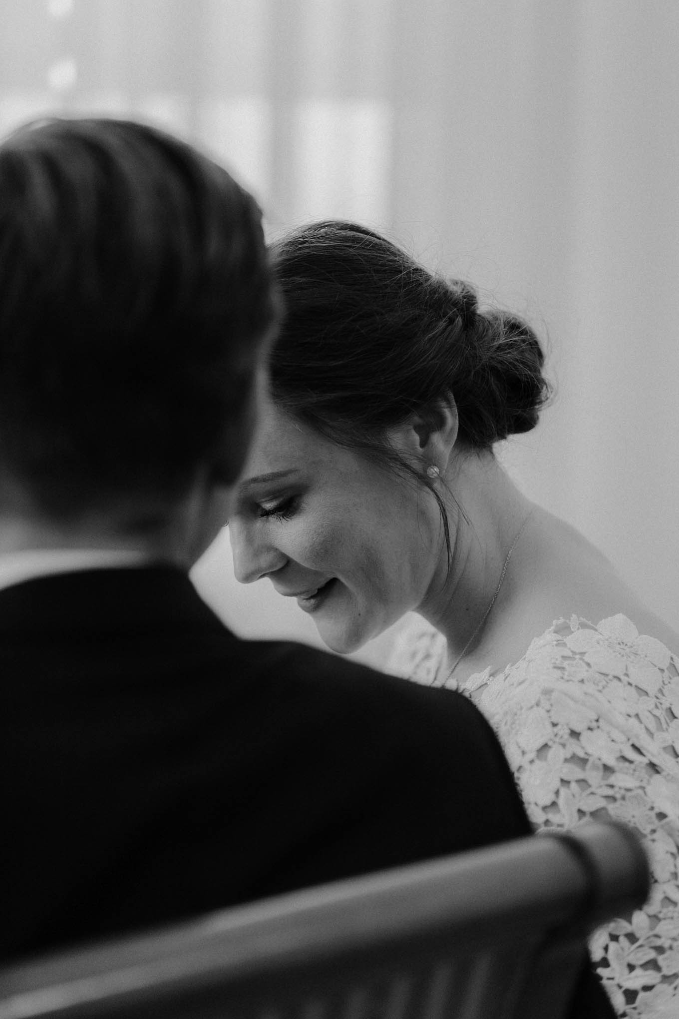 Brautfoto bei der Trauung