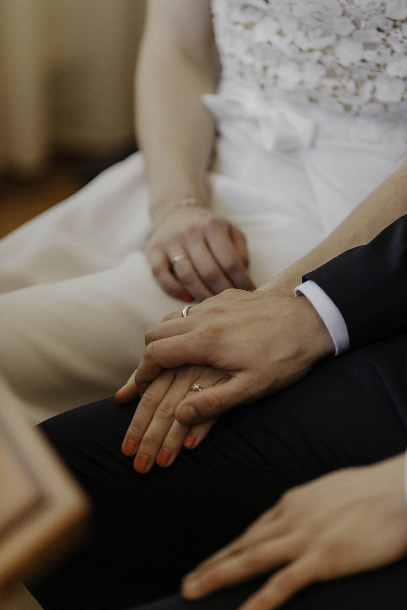 Hochzeitsfoto bei der Trauung