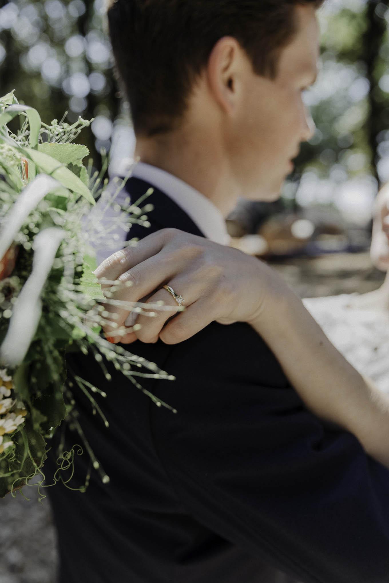 Rinf Foto von der Hochzeit