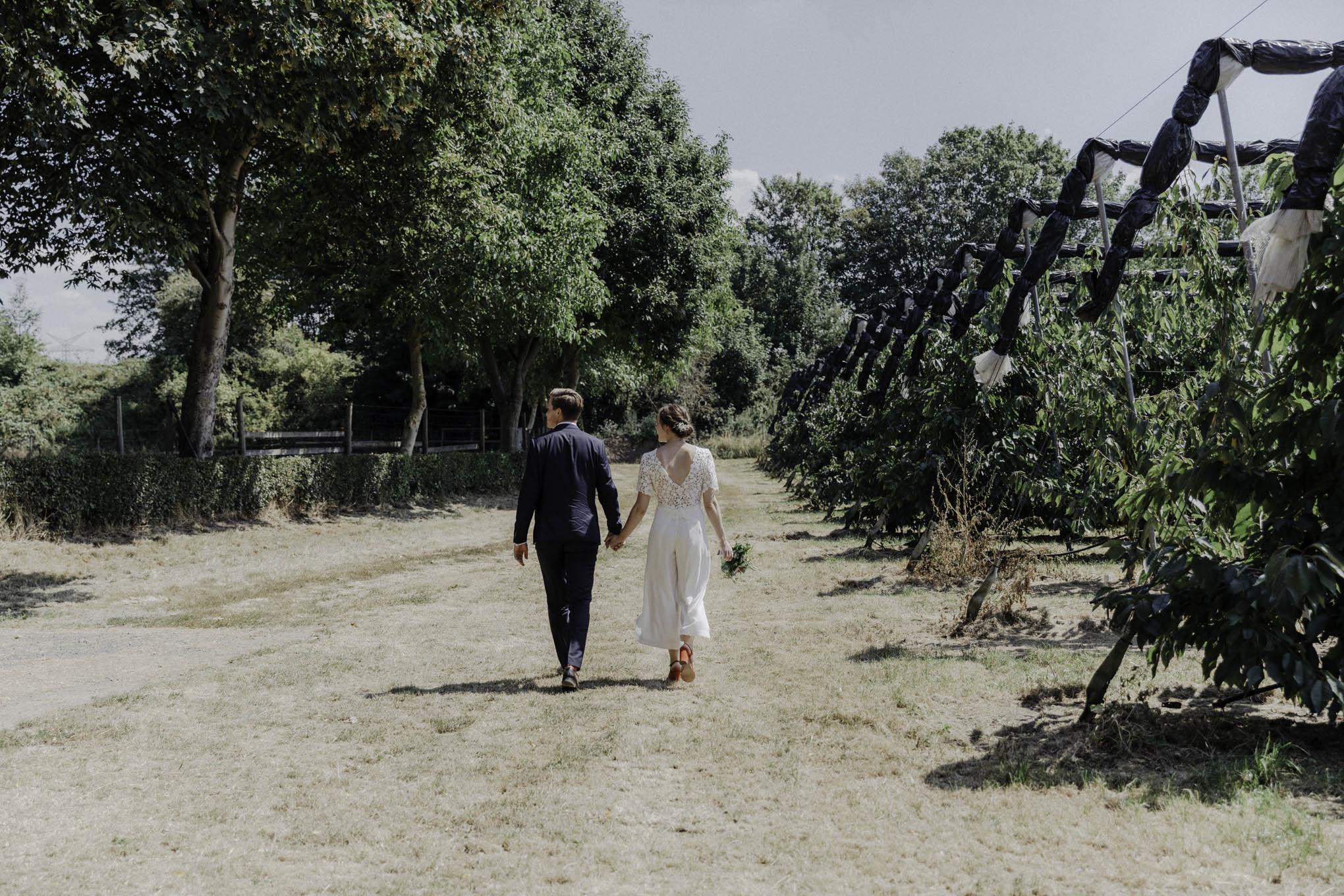 lässiges Hochzeitsfoto