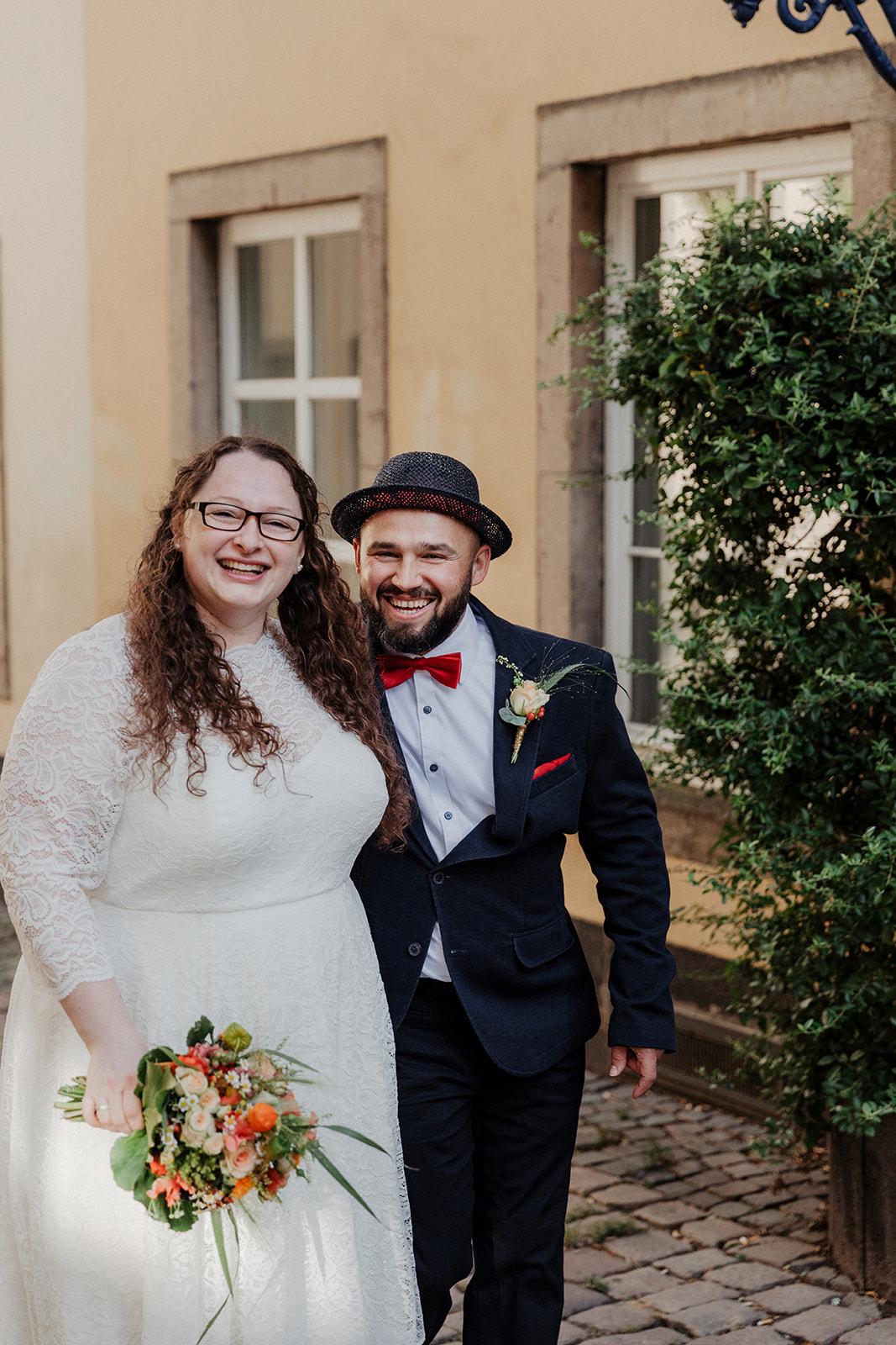 Brautpaarfoto in Kölner Altstadt