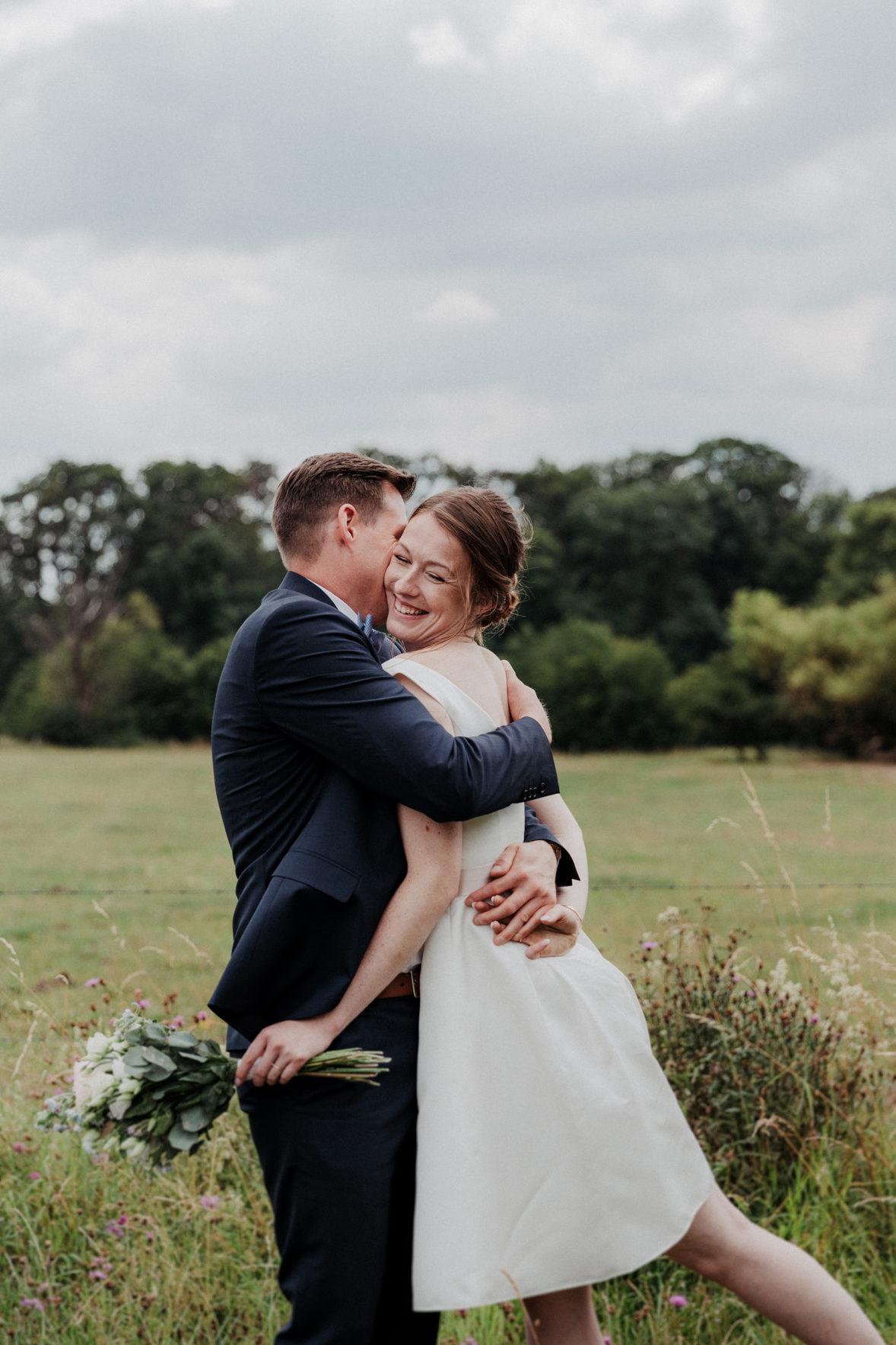 lachendes Brautfoto für den Jahresrückblick