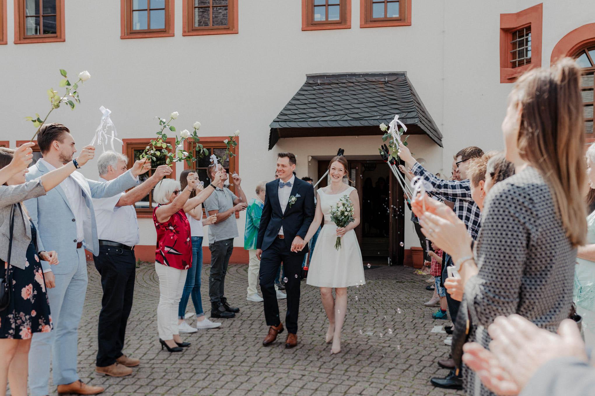 Hochzeitsspalier am Marktflecken in Mengerskirchen