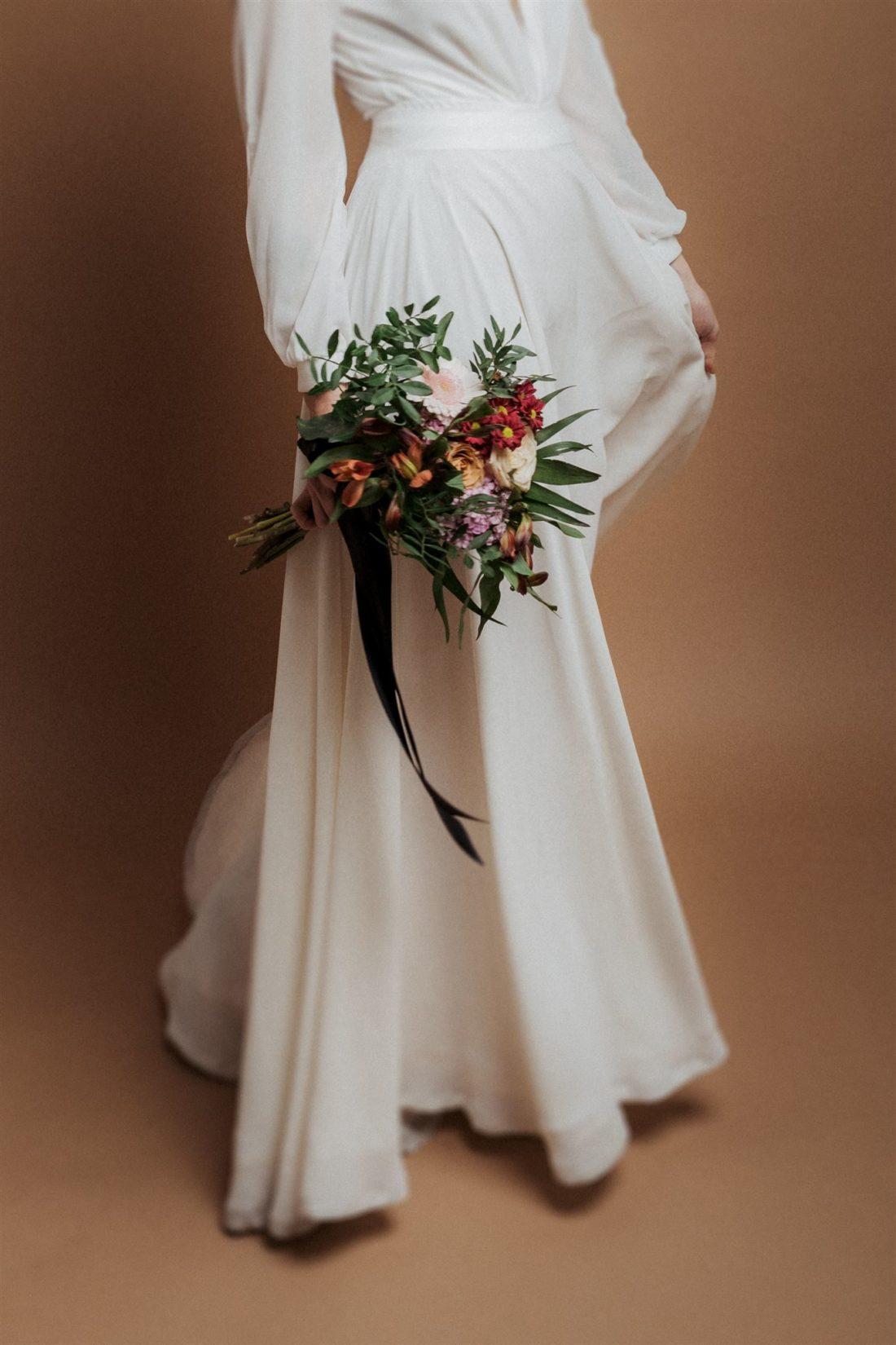 Hochzeitsfoto mit Braut im Studio