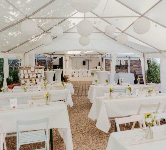 Außenbereich der Hochzeitslocation Nüssenberger Hof