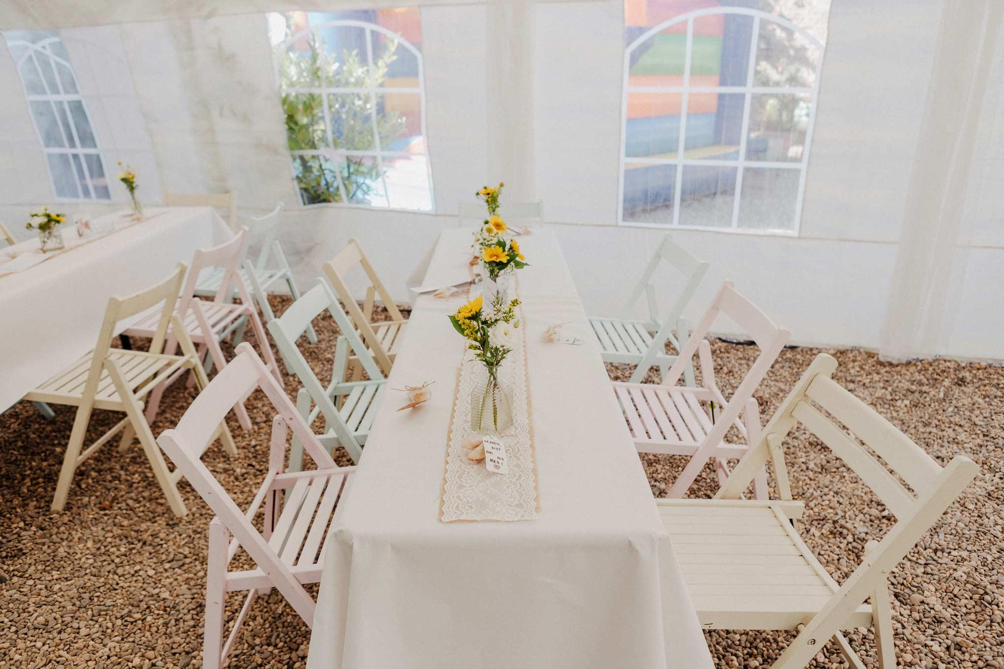 Hochzeitsdekoration auf dem Nüssenberger Hof