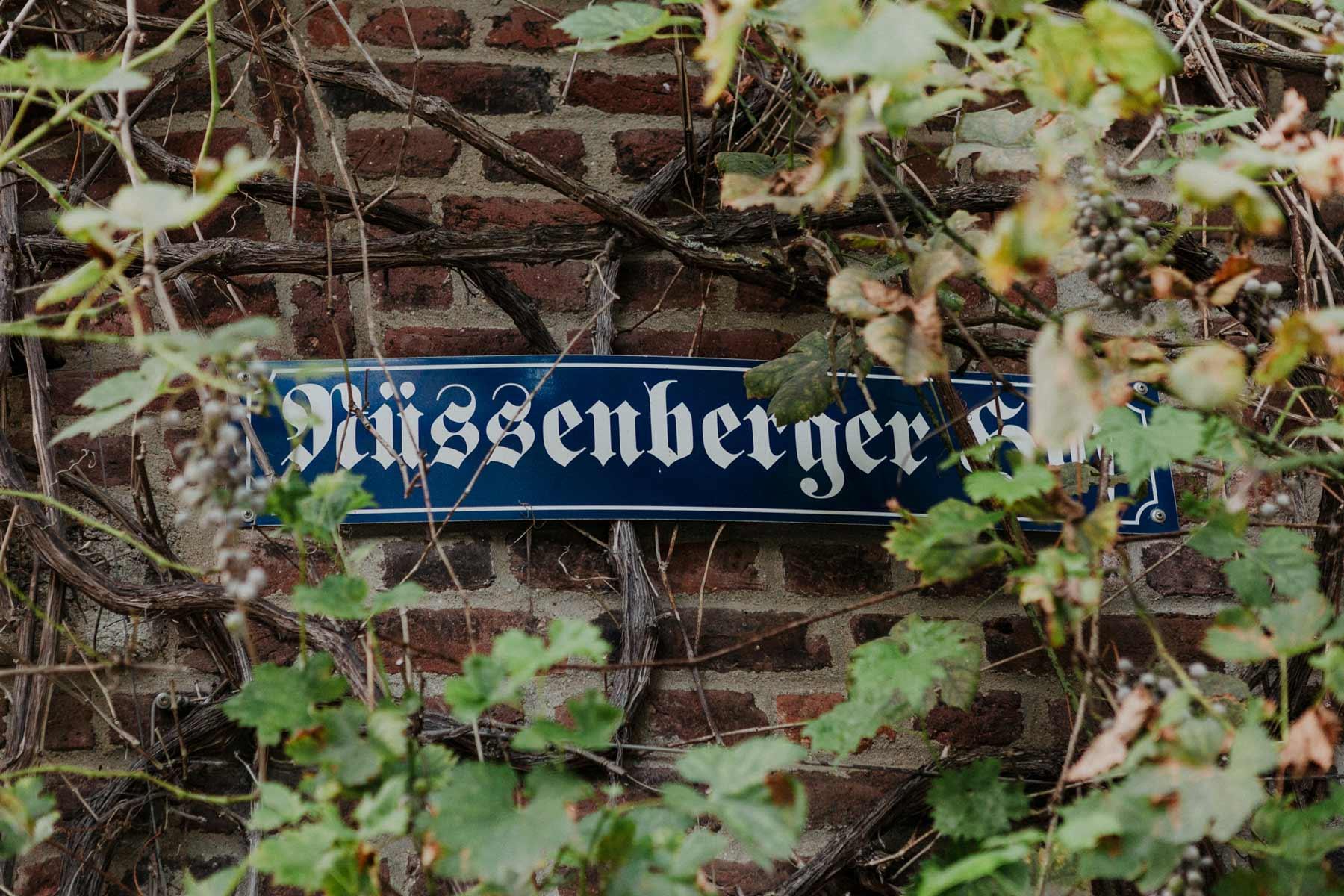 Eingangsschild Nüssenberger Hof